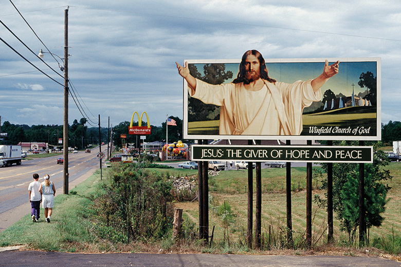 Jesus billboard sign