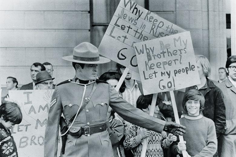 Jewish protesters in Canada