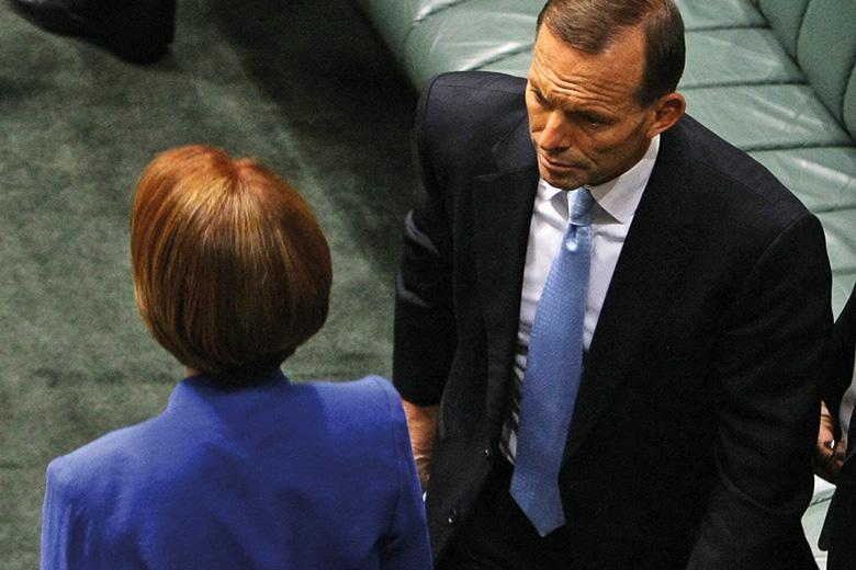 Julia Gillard and Tony Abbott, House of Representatives, Canberra, Australia