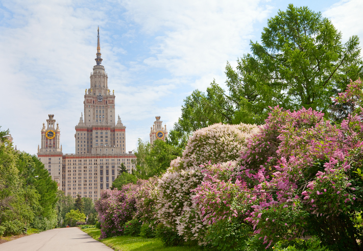 Most beautiful universities in Europe - Lomonsov Moscow State University.
