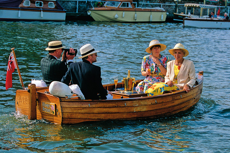 Motor boat at Henley Royal Regatta