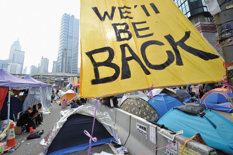 Occupy Central, pro-democracy protestors, Hong Kong, 2014
