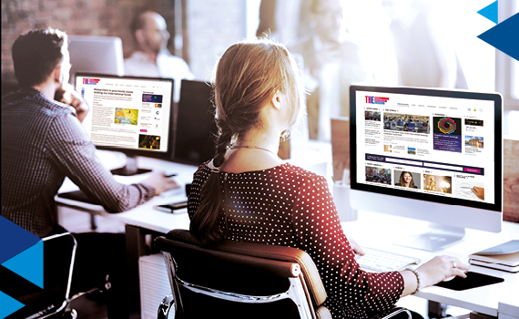 People reading Times Higher Education online