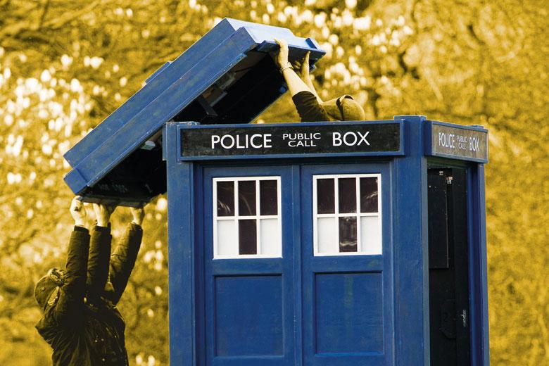 People lifting lid off Doctor Who's tardis