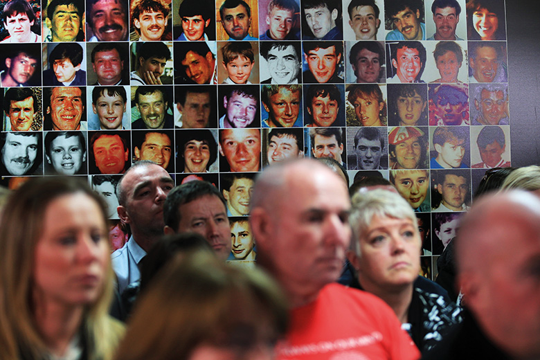 Photographs of victims of Hillsborough disaster, Hillsborough Justice Campaign press conference