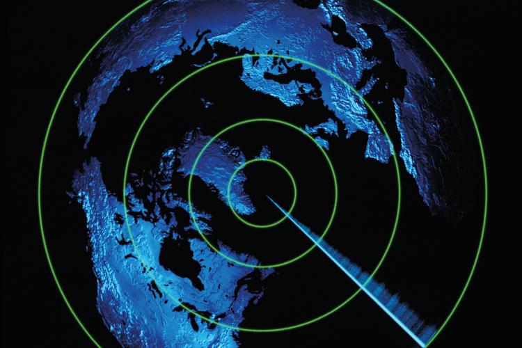 A radar image