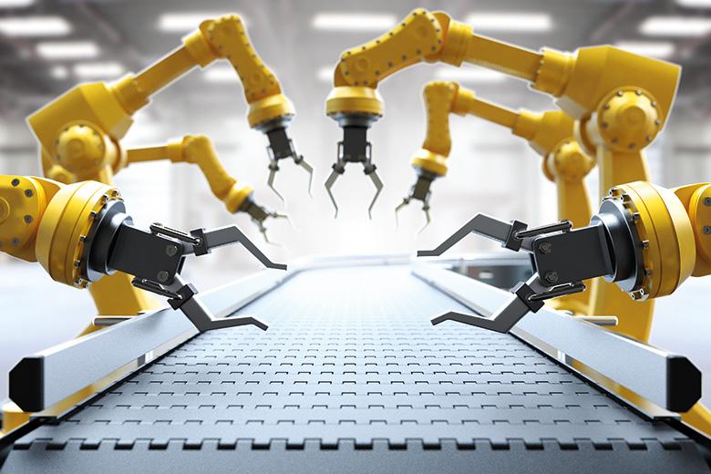 Robot production line