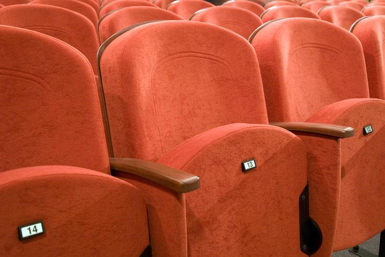 Row of cinema seats