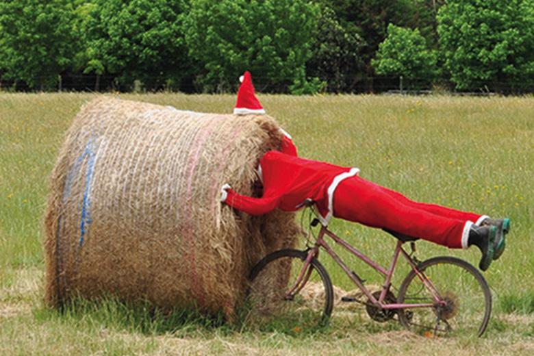 Santa in a haystack
