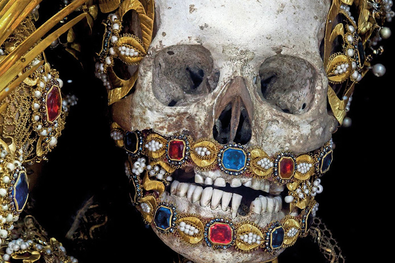 Skull covered in jewels
