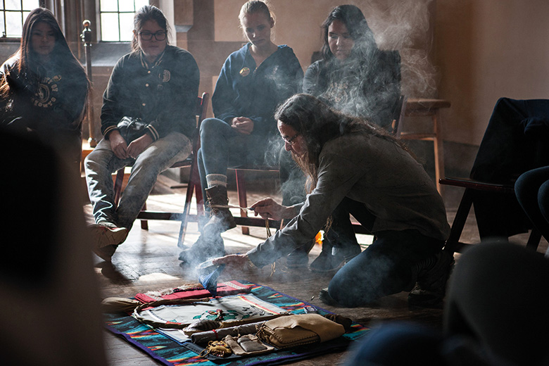 Smudging ceremony at University of Toronto