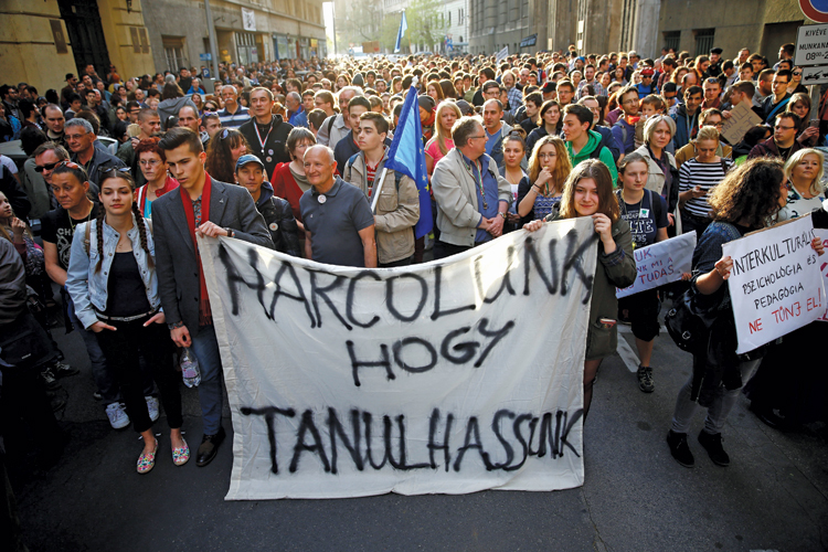 Street protests in Hungary