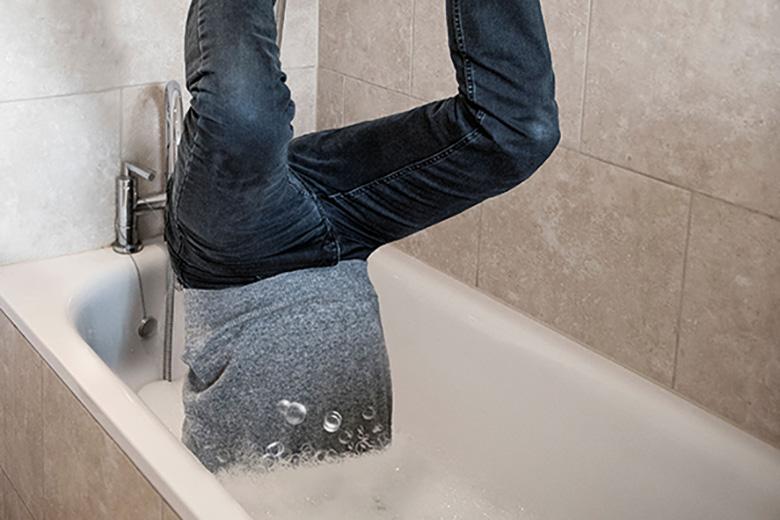 Stuck in the bath