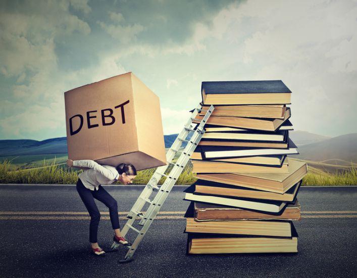 Student debt concept