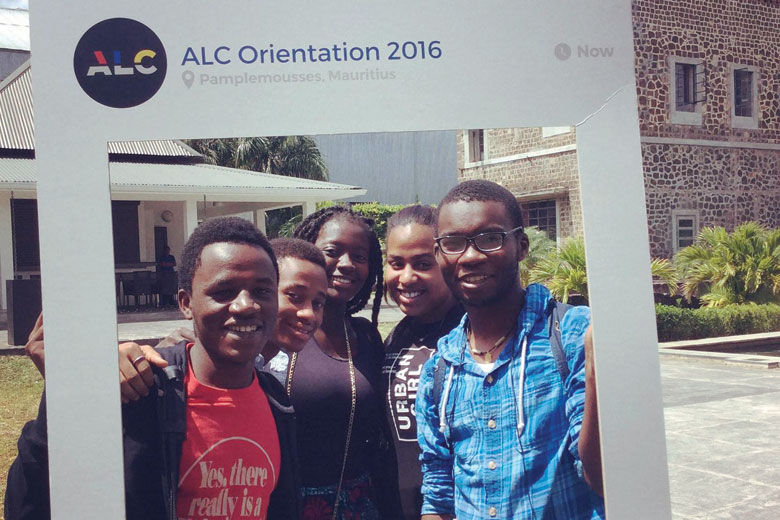Students at ALC Orientation 2016, Mauritius