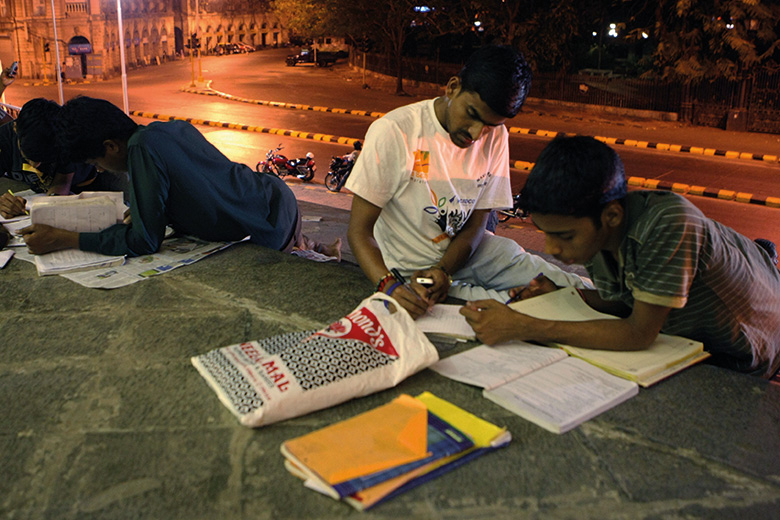 Students prepare for exams, The Asiatic Society of Mumbai library