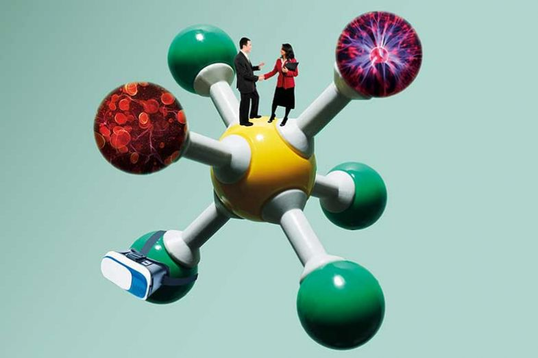 molecule-with-handshake