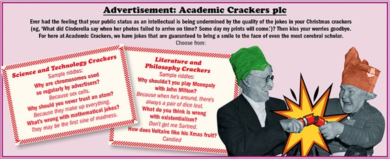 Fourth Degree advertisement: Academic Crackers plc