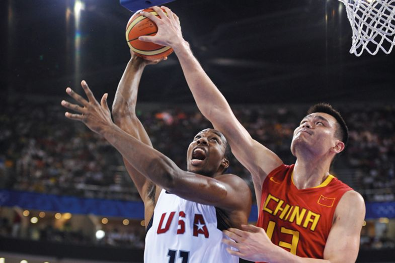 Basketball players from China and US