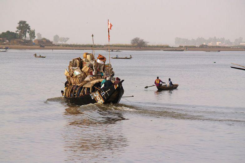 Boat on Niger