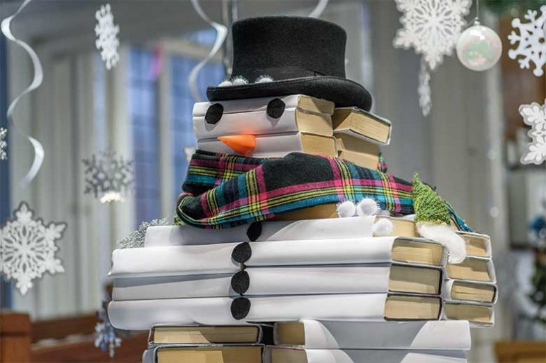 books_snowman_alamy