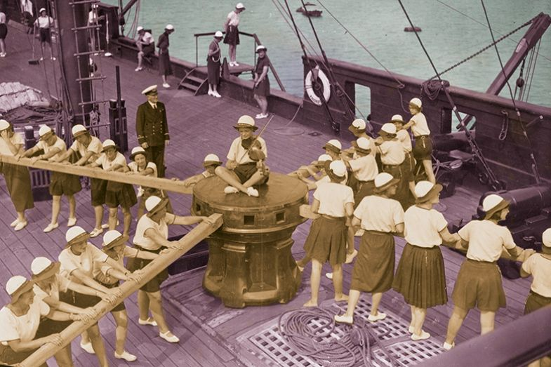 women on a ship