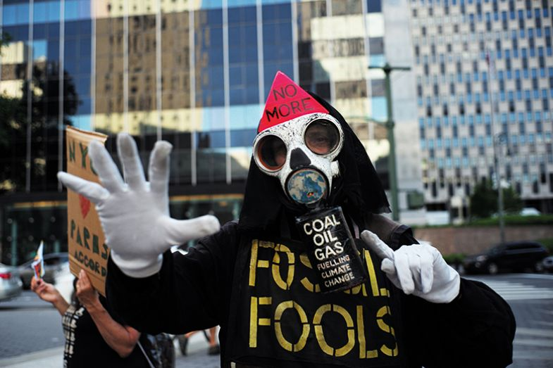 Fossil fuels protester