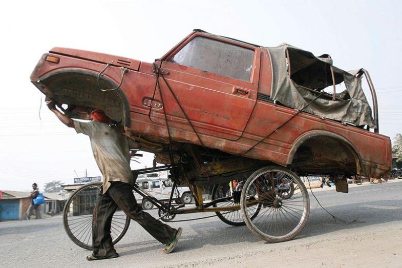 india car on bike
