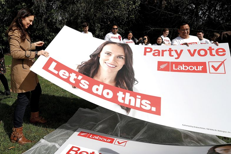 Jacinda Ardern on the campaign trail