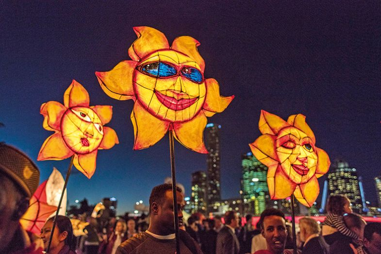 The Luminous Lantern Parade in Brisbane, aimed at promoting multiculturalism