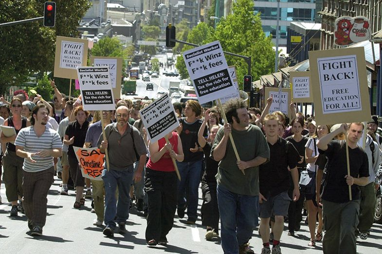 Auckland University students protest