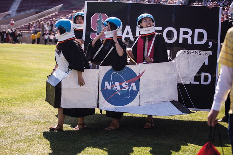Students dressed as astronauts