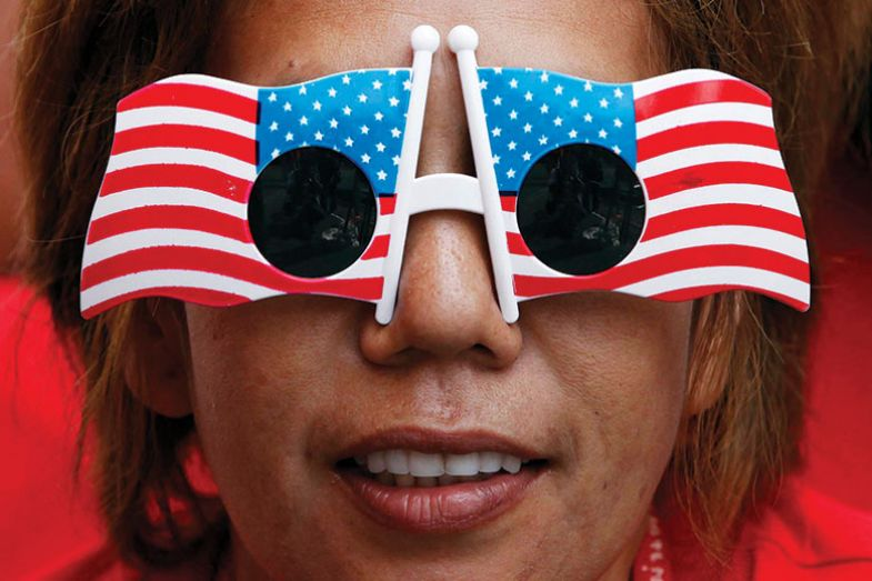 USA flag glasses