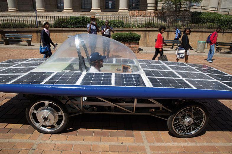 Solar car Johannesburg, South Africa