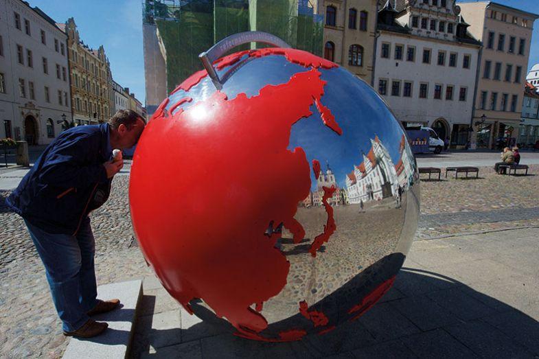 Globe sculpture