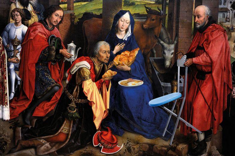 Nativity scene montage