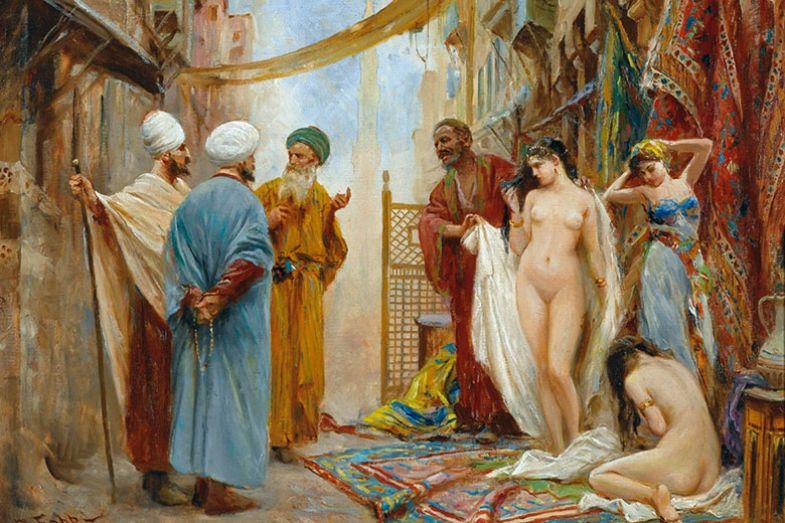 Fabio Fabbi, The Slave Market, c. 1906