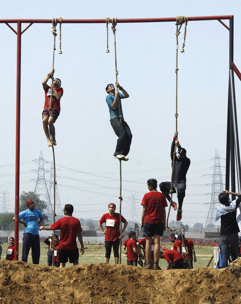 Obstacle run, India