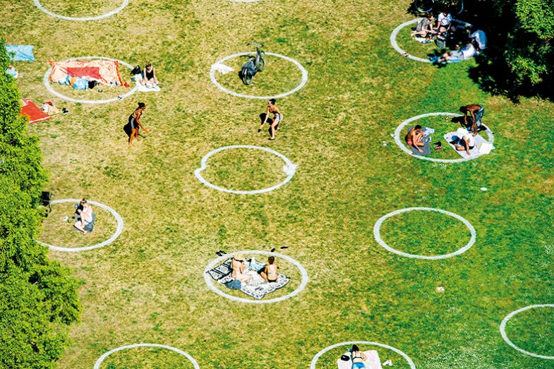 circles in a park