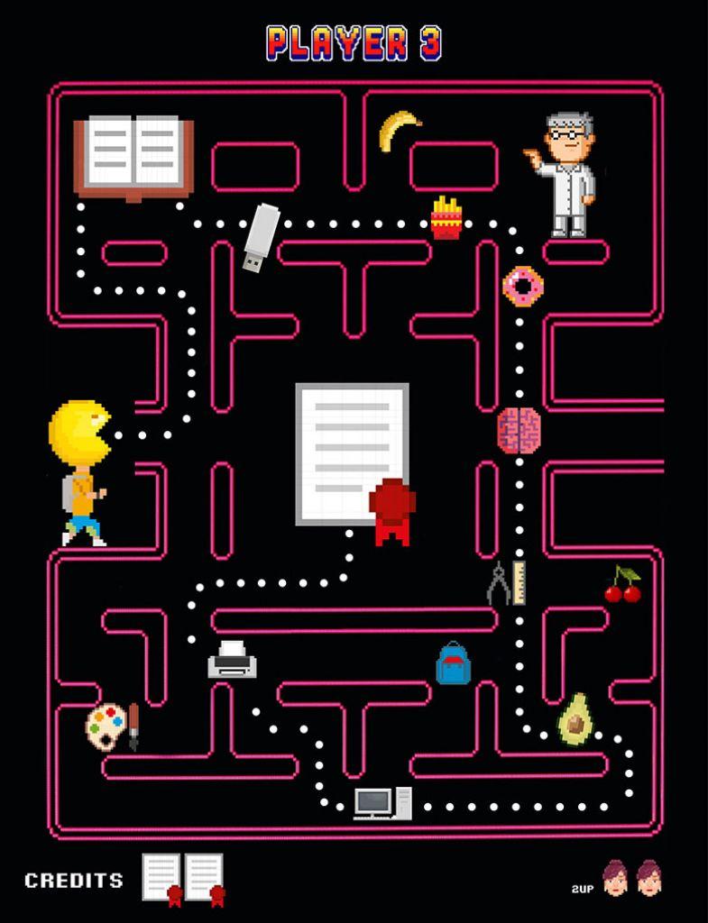 Video game maze