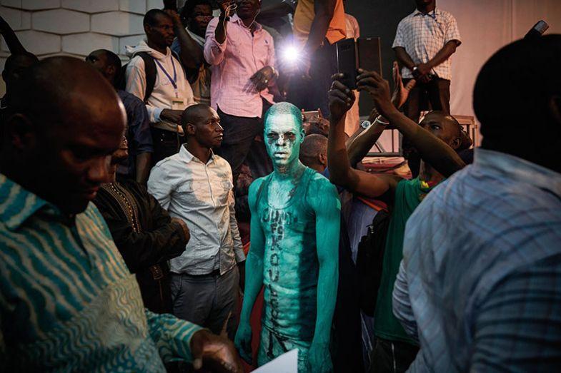 Protester in Mali
