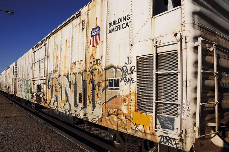 side of train