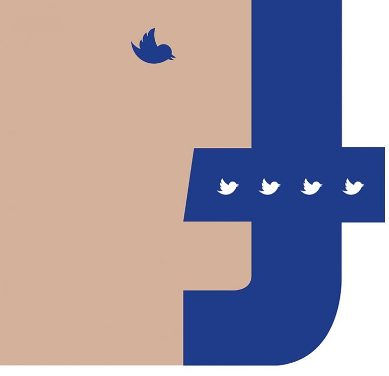 Facebook and Twitter face