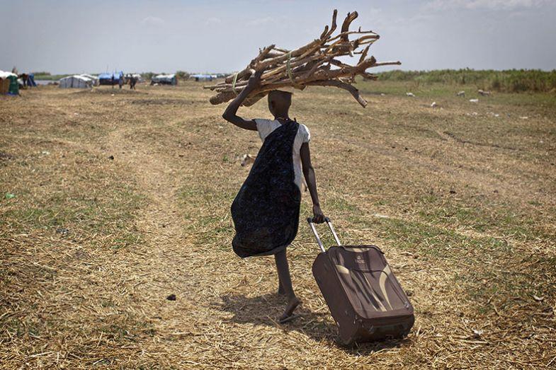 sticks suitcase walking sudan