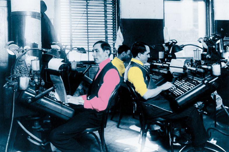 Editors on typewriters
