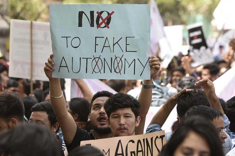 Protest in New Delhi, India
