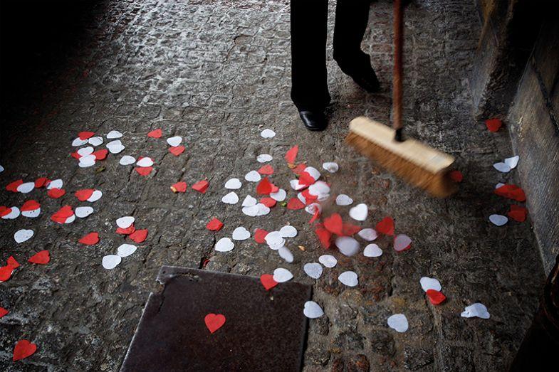Confetti on the pavement