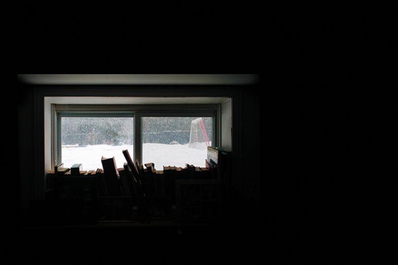 Books in a window