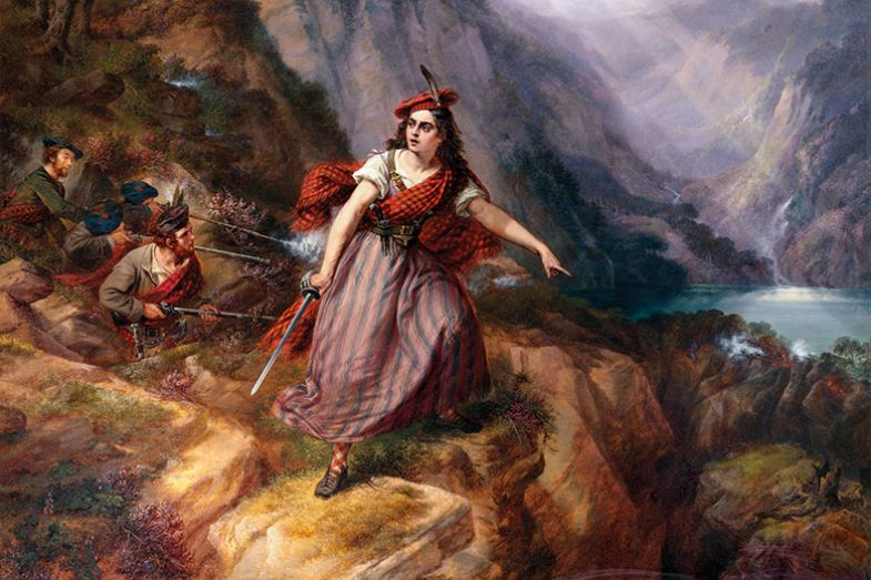 Painting of female warrior