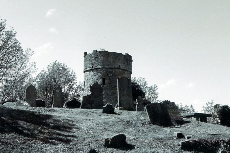 Cruagh watchtower was constructed as a defence against the 'resurrection men' who had no compunction about stealing corpses